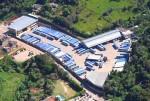 imagem aérea da garagem